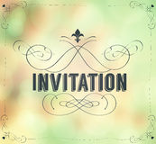 Vintage invitation frame Stock Photos