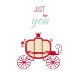 Vintage Invitation Luxury carriage design vector illustration. Stock Images