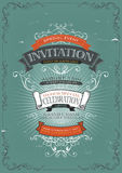 Vintage Invitation Poster Background Royalty Free Stock Images