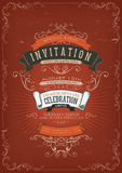 Vintage Invitation Poster Background vector illustration
