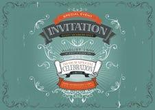 Vintage Invitation Poster Background Royalty Free Stock Photo