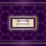 Vintage invitation template Royalty Free Stock Photos
