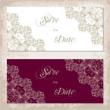 Vintage invitation template with lace Royalty Free Stock Photography
