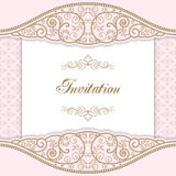 Vintage invitation template Royalty Free Stock Image