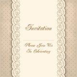 Vintage invitation template Stock Photo
