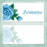 Vintage invitation template with roses Stock Photography