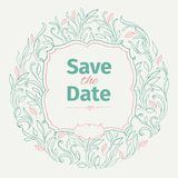 Vintage invitation for wedding. Royalty Free Stock Image