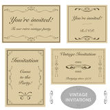 Vintage invitations Royalty Free Stock Photos
