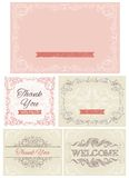 Vintage invitations and frames Stock Photo