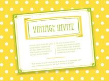 Vintage invite landscape Royalty Free Stock Image