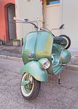 Vintage Iralian scooter Vespa Royalty Free Stock Photography