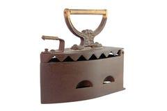 Vintage iron. Isolated on white background Royalty Free Stock Images