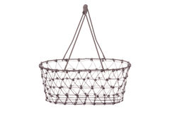 Vintage Iron Basket Isolated Royalty Free Stock Photography