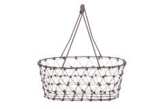 Vintage Iron Basket Isolated. Isolated image an iron basket Royalty Free Stock Photography
