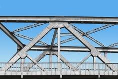 Vintage iron bridge with blue sky Stock Photo