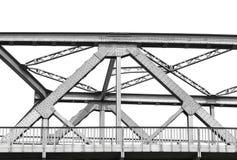 Vintage iron bridge, isolated on white Stock Image