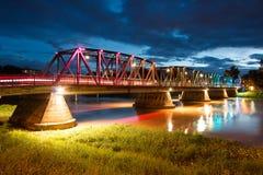 Vintage Iron Bridge at twilight Royalty Free Stock Photo