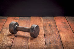 Vintage iron dumbbell stock images