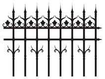 Vintage iron fence Royalty Free Stock Image