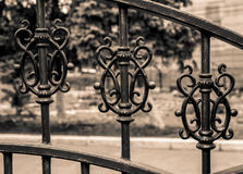 Vintage iron gate Royalty Free Stock Photos
