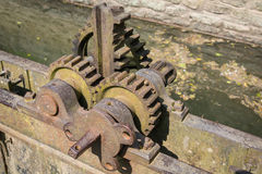Vintage iron gear wheels Stock Photo