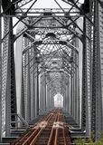 Vintage Iron Railway Bridge Royalty Free Stock Image