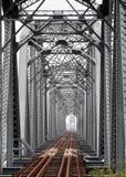 Vintage Iron Railway Bridge Royalty Free Stock Image