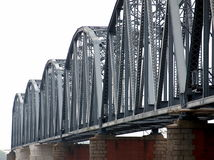 Vintage Iron Railway Bridge Stock Photography