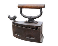 Vintage Iron With Rooster Stock Image