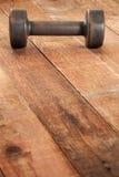 Vintage iron dumbbell stock photos