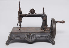 Vintage Iron Sewing Machine Stock Image