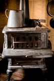 Vintage Iron Stove. Antique Stove Closeup Stock Photo