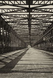 Vintage iron truss bridge Stock Image