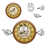 Vintage isolated clock cartoon character Stock Image