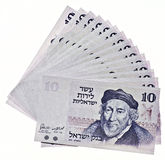 Vintage israeli money Royalty Free Stock Image