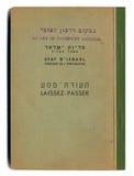 Isolated Vintage Israeli Passport Stock Image