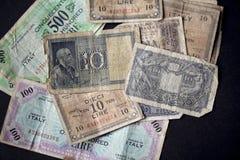 Vintage italian banknotes Stock Photos