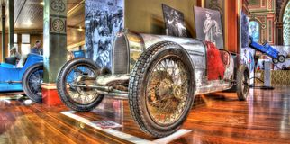 Vintage Italian Bugatti race car Stock Photography