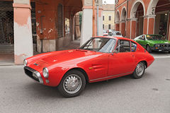 Vintage italian car Abarth 1500. At rally Meeting Fiat 500 e auto d'epoca on November 10, 2013 in Bagnacavallo, RA, Italy stock photo