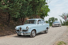 Vintage italian car Alfa Romeo Giulietta Royalty Free Stock Photo