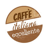Vintage italian coffee sign Stock Photo