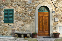 Vintage italian front door Royalty Free Stock Photo