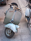 Old italian scooter Vespa Royalty Free Stock Photos