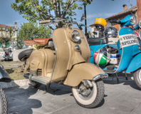 Vintage italian scooters Royalty Free Stock Images