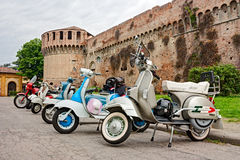 Vintage italian scooters Stock Images