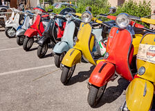 Vintage italian scooters Royalty Free Stock Photography