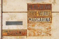 Vintage italian sign Royalty Free Stock Image