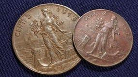 Vintage italiano dos centavos Imagens de Stock