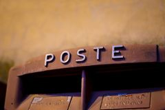 Vintage Italy Post Box Close Up. Stock Images
