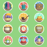 Vintage Item Flat Icon Stock Photo
